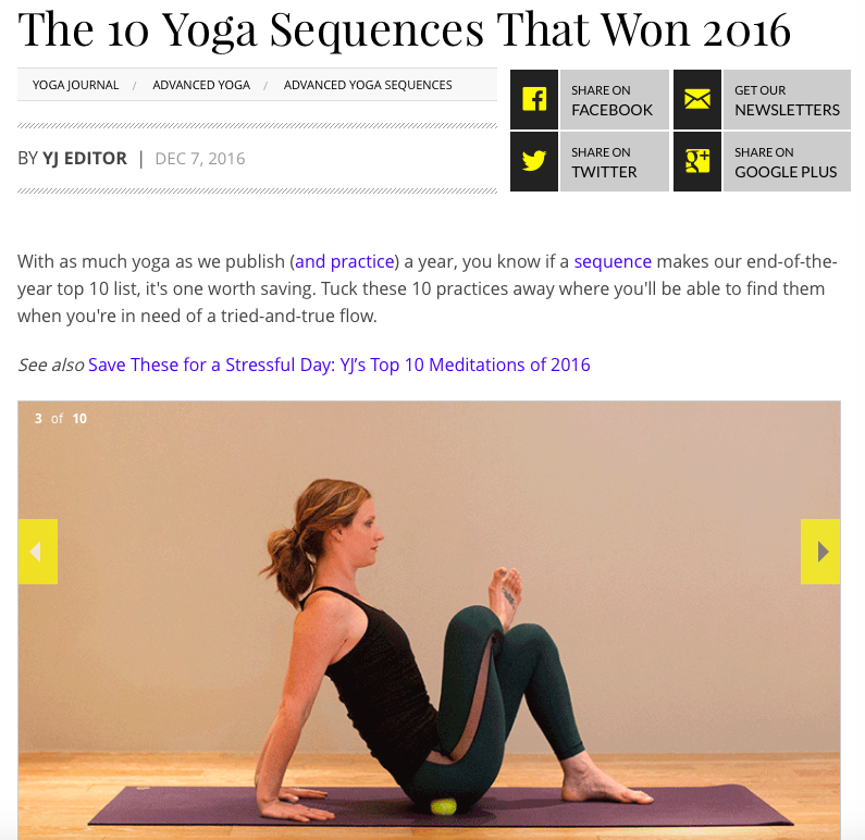 The 10 Yoga Sequences That Won 2016